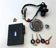 Yamaha R6 2008-2009 Kit serratura con la chiave rossa