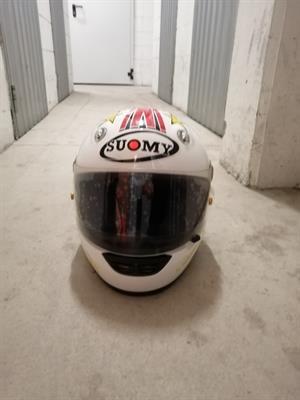 Casco moto bianco